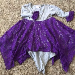 Beautiful asymmetrical dress with lace girl size 6